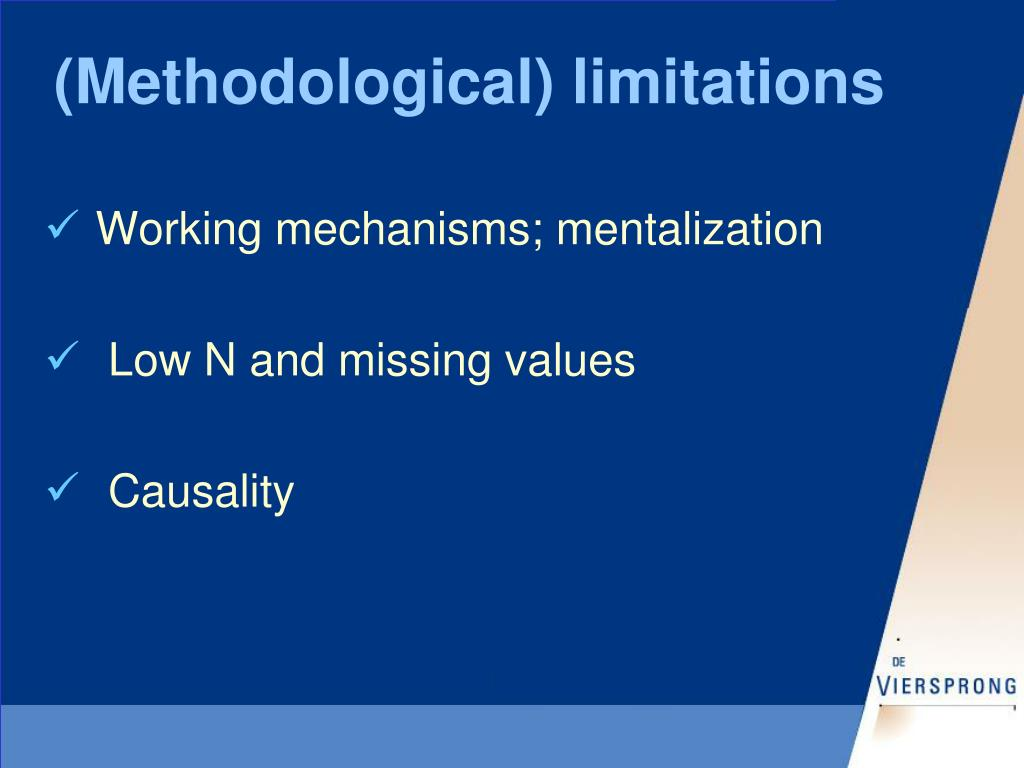 (Methodological) limitations