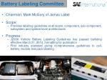 battery labeling committee