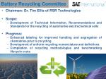 battery recycling committee