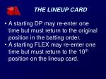 the lineup card1