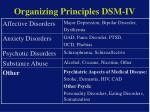organizing principles dsm iv15