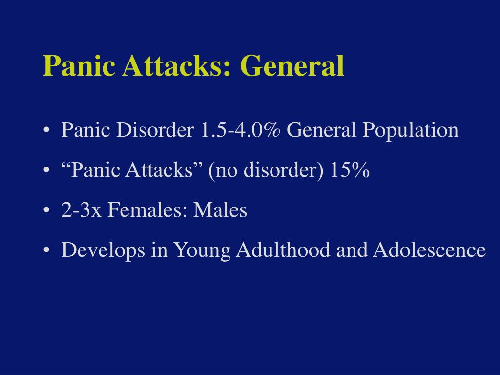 Panic Attacks: General