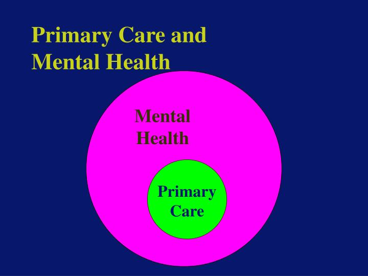 Primary care and mental health