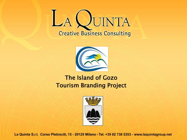the island of gozo tourism branding project n.