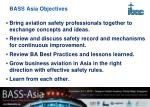 bass asia objectives