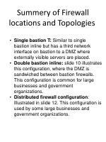 summery of firewall locations and topologies1
