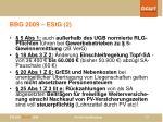 bbg 2009 estg 2
