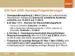 est tarif 2009 sonstige folge nderungen
