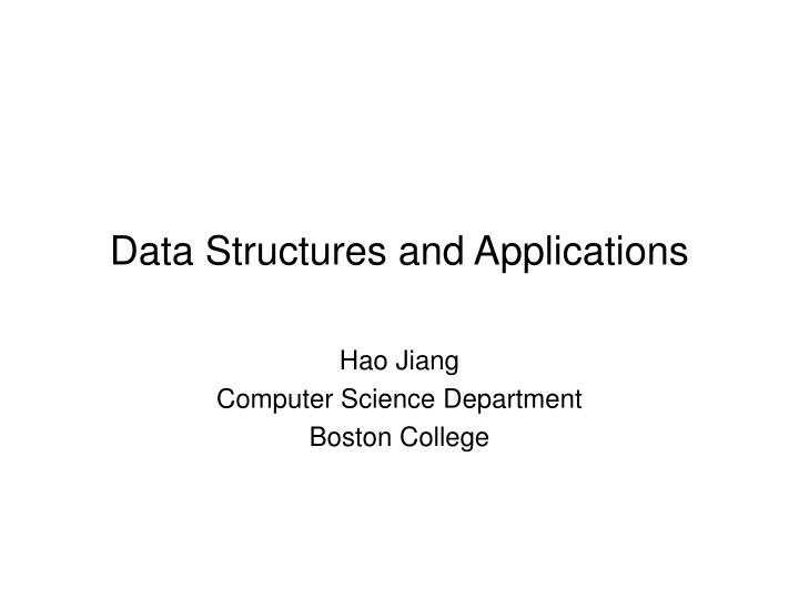 data structures and applications n.