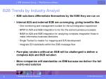 b2b trends by industry analyst