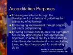 accreditation purposes