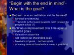 begin with the end in mind what is the goal