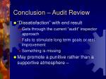 conclusion audit review