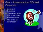goal assessment for cqi and outcomes