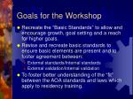 goals for the workshop