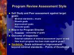 program review assessment style