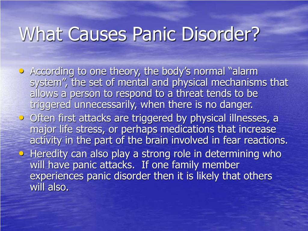 What Causes Panic Disorder?