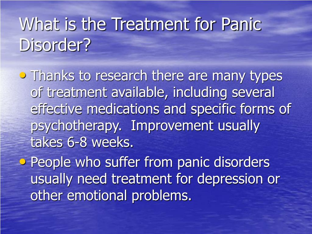 What is the Treatment for Panic Disorder?
