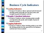 business cycle indicators