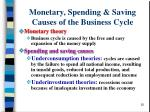 monetary spending saving causes of the business cycle