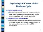 psychological causes of the business cycle