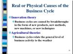 real or physical causes of the business cycle