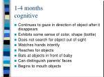 1 4 months cognitive