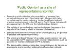 public opinion as a site of representational conflict