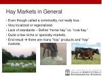 hay markets in general