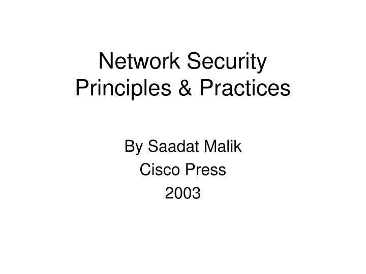 network security principles practices n.