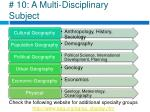 10 a multi disciplinary subject