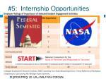 5 internship opportunities