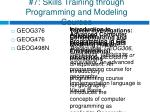 7 skills training through programming and modeling courses