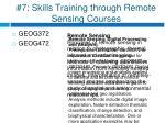7 skills training through remote sensing courses