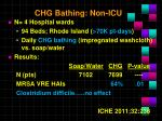 chg bathing non icu