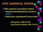 chg surgical scrub