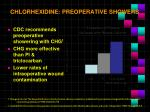 chlorhexidine preoperative showers