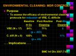 environmental cleaning mdr control