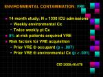 environmental contamination vre1