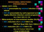 nosocomial infections preventables