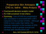preoperative skin antisepsis chg vs iodine meta analysis