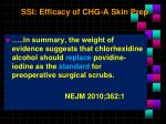 ssi efficacy of chg a skin prep