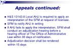 appeals continued