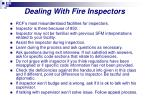 dealing with fire inspectors