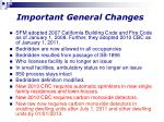 important general changes