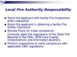 local fire authority responsibility
