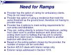 need for ramps