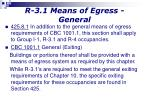 r 3 1 means of egress general