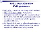 r 3 1 portable fire extinguishers