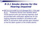 r 3 1 smoke alarms for the hearing impaired